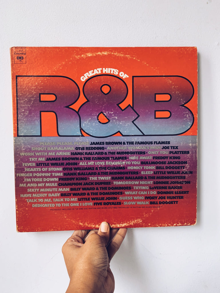 "Vinyl LP // ""Great Hits Of R&B"" - Various Artists (1980)"