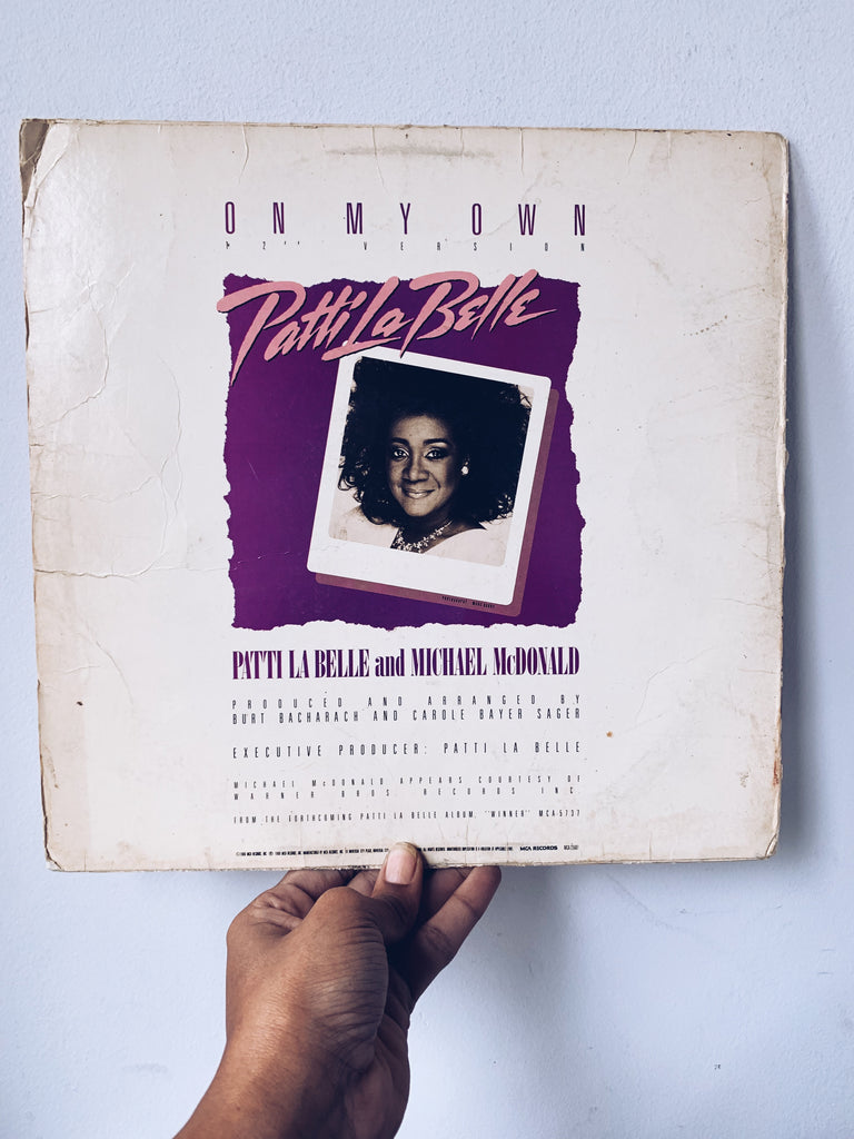 "Vinyl Single // ""On My Own"" - Pattie La Belle (1986)"