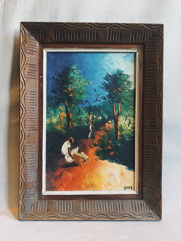 Vintage 1970's Framed Oil Painting (Signed)