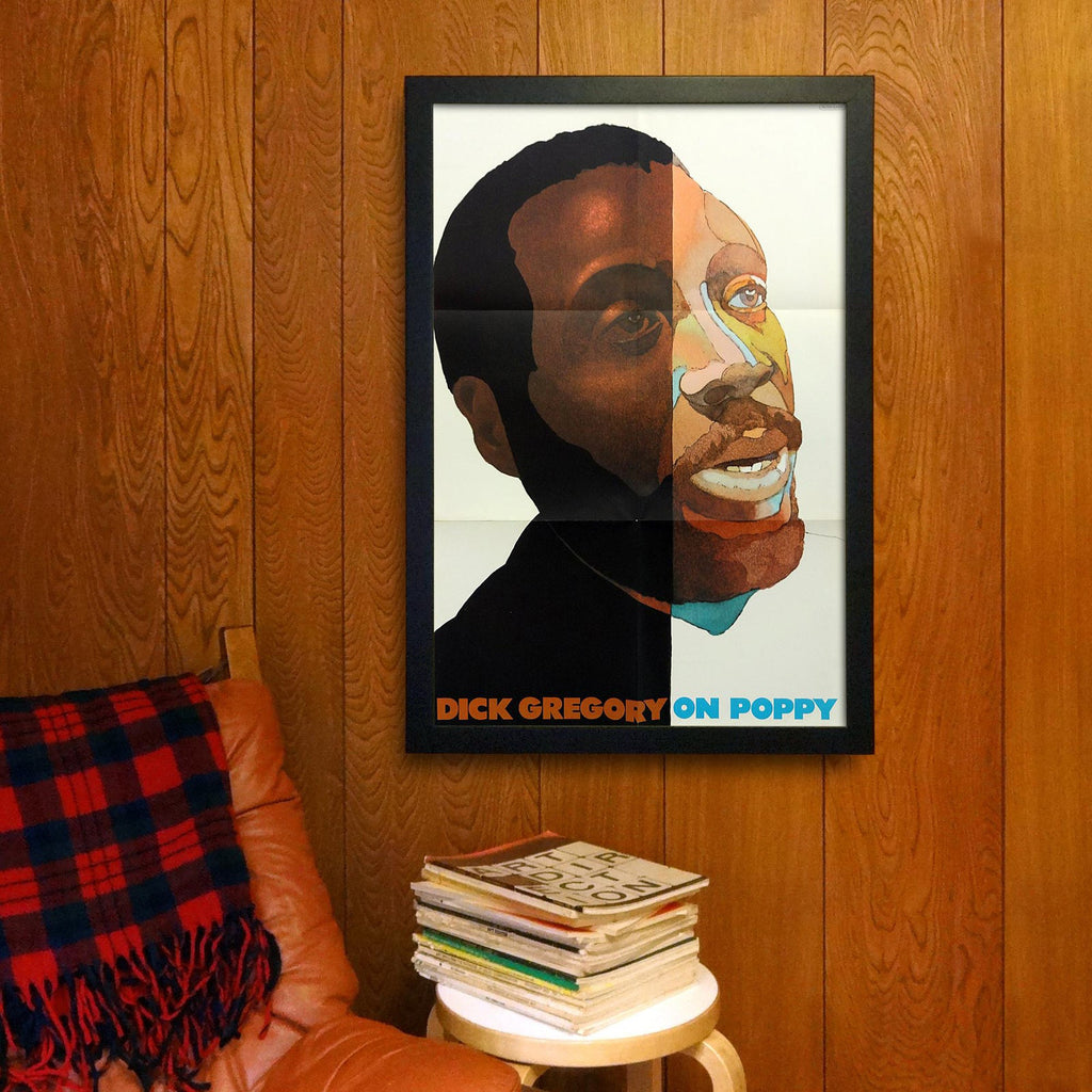 "Vintage ""Dick Gregory on Poppy"" Lithograph by Milton Glaser (1969)"