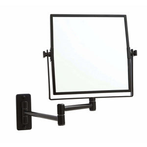 5x Magnification Wall Mounted Mirror – Matt Black