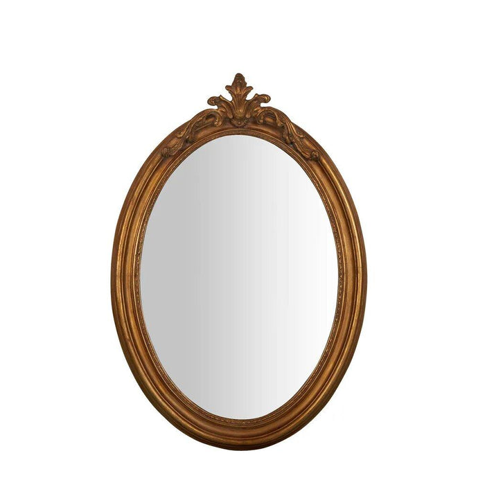 August Gold Oval Mirror