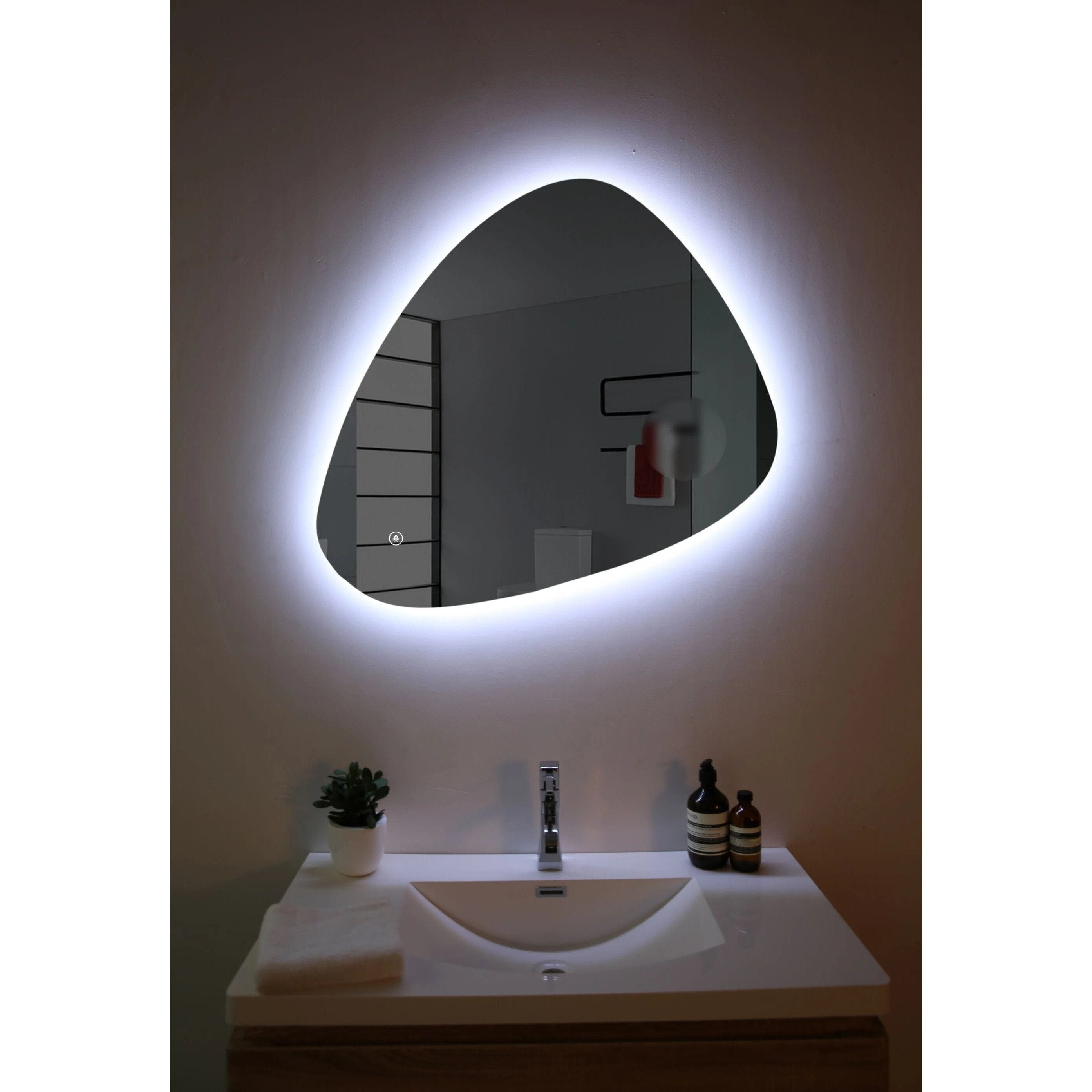 Belbagno Triangolo Backlit Bathroom Mirror Free Shipping Mirrors Direct