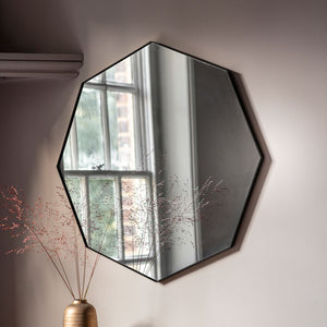 Cypsela Octagon Wall Mirror - Black