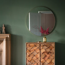 Load image into Gallery viewer, Cypsela Round Wall Mirror - Champagne