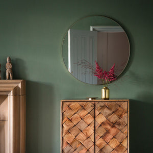 Cypsela Round Wall Mirror - Champagne