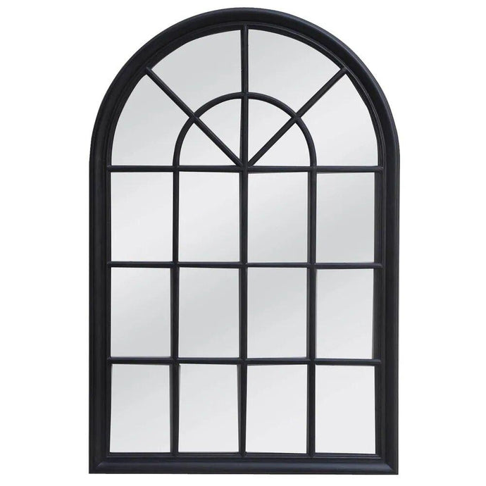 Hamptons Arched Mirror - Black