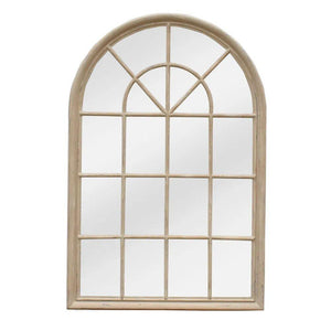 Hamptons Arched Mirror - Natural