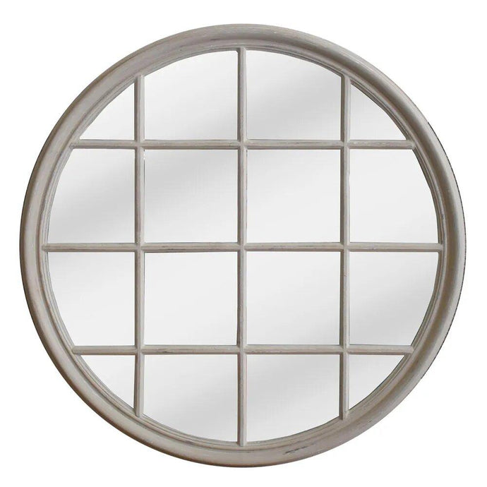 Hamptons Round Mirror - Natural