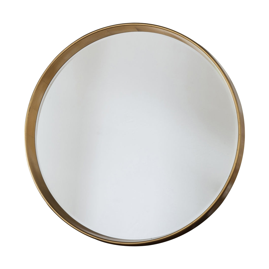 Harriet Gold Round Mirror