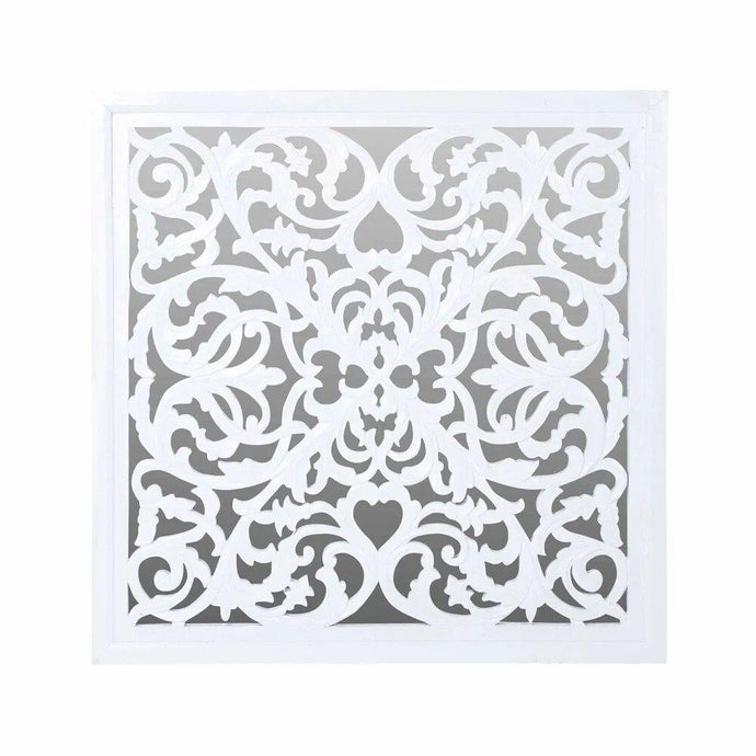 Lattice White Mirror