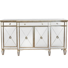 Load image into Gallery viewer, Mirrored Sideboard Antiqued Ribbed