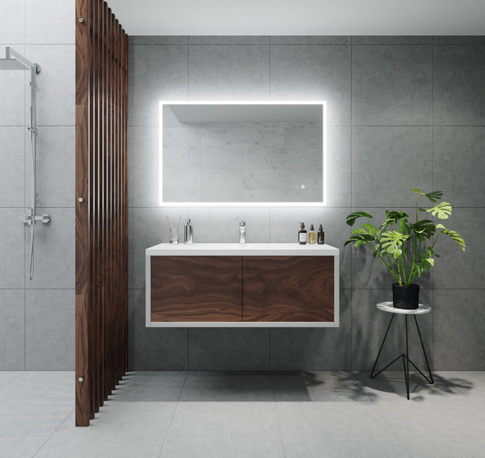 Remer Kara Backlit Bathroom Mirror - Optional Bluetooth Audio
