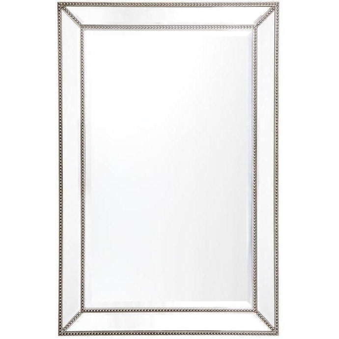 Zeta Wall Mirror - Antique Silver