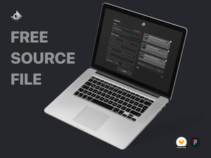 "A desktop web checkout page with the text ""Free Source File!""."
