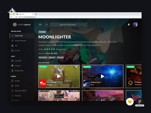 A mockup of a gaming and live stream website.