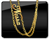 NESSA Style Double Flat Female Chain w/Name Yellow or Silver
