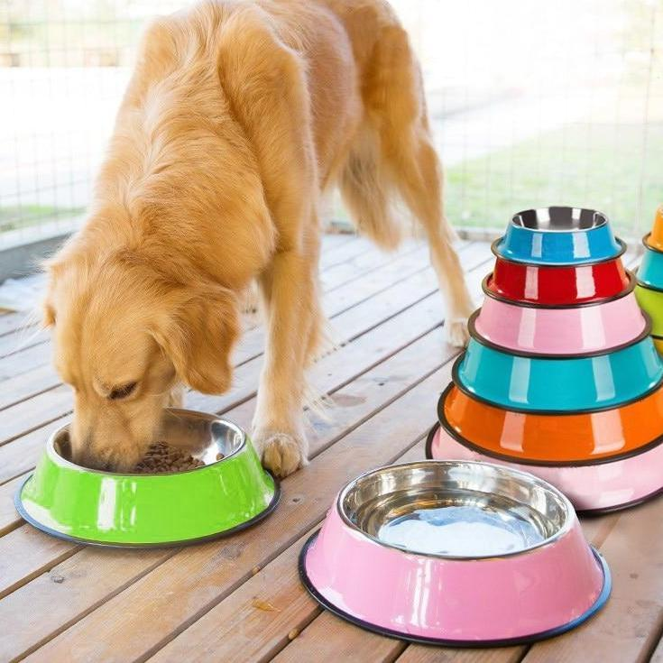 Stainless Steel Pet Food and Water Bowl 5 Colours! Pet Bowls, Feeders & Waterers BestPet