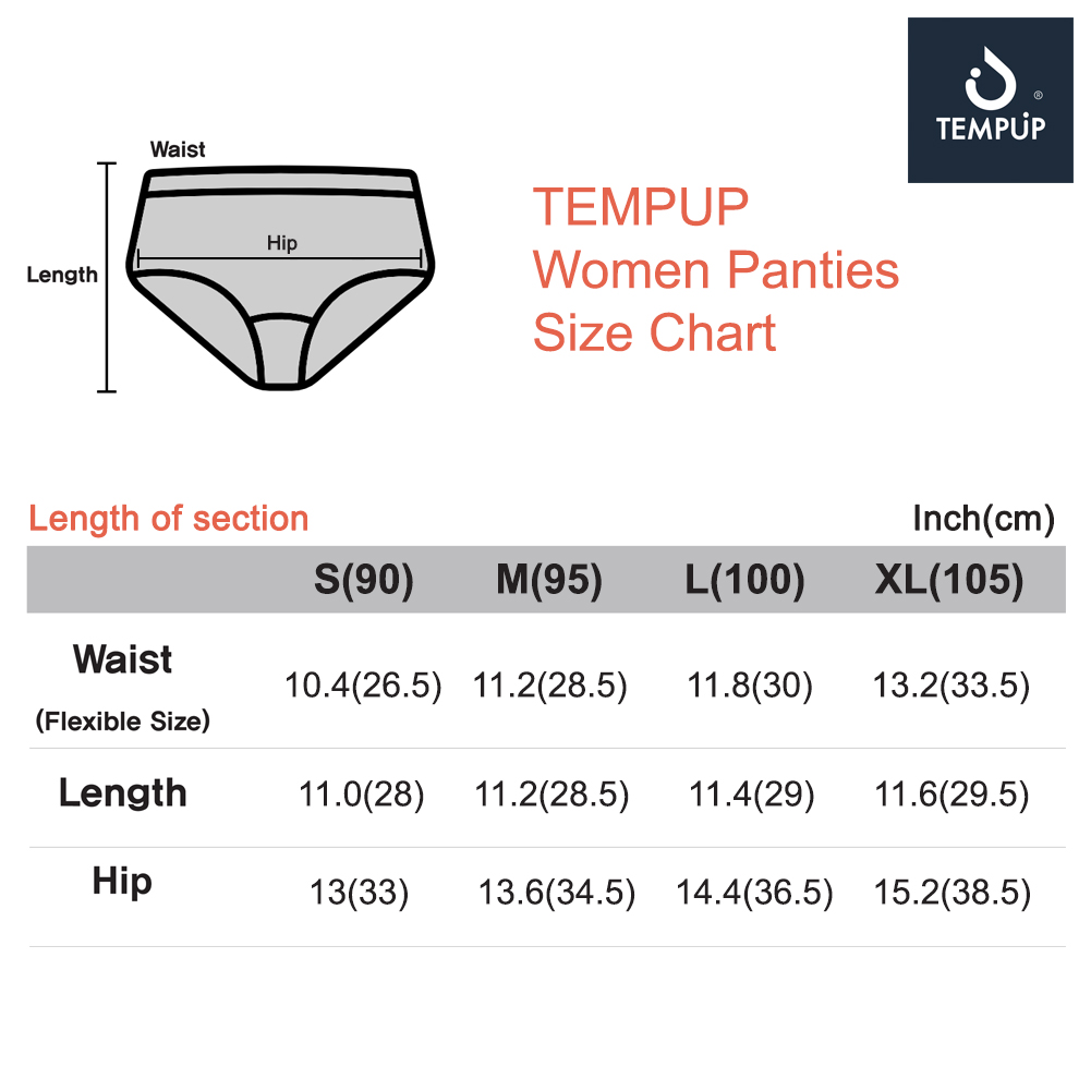 TEMPUP Panties, Self Recovery Wear, Pain Relief, Comfortable Underwear - for Women