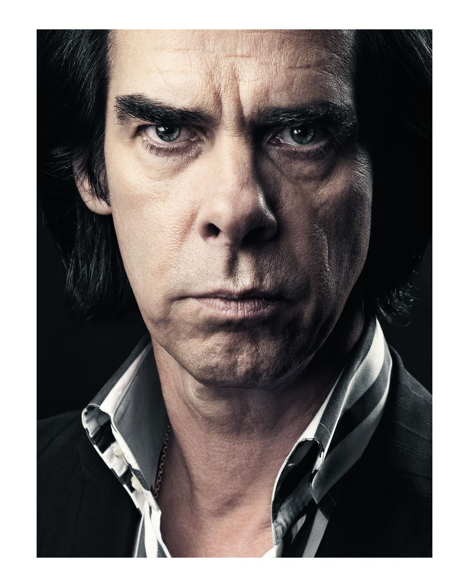 Nick Cave, photographed in Hammersmith for MOJO Magazine cover