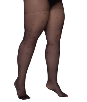 Spotted Tights XXXL Extra Long