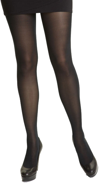 Extra Long Plus Size Semi-Opaque Tights Blacknudeskin Colors - Donatellas Hosiery-7801