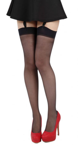 Sheer Thigh High Stockings 2x-3x