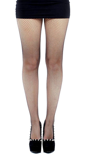 Plus Sized Black Fishnet Tights