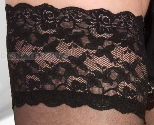 Black Lace Top Thigh Highs 1x-5x