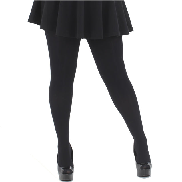 Black Opaque Tights 80 Denier 2x-3x