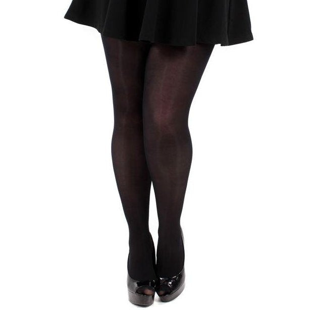Black 70 Denier microfibre tights 2x-3x