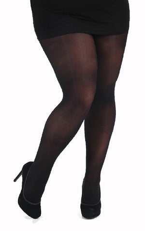 Black 40 Denier velvet feel tights 2x-3x