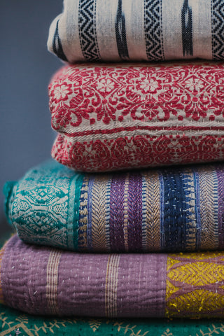 Colourful Kantha Fabrics