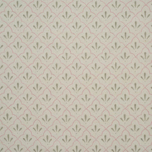 Amer Trellis Cotton Linen in pale rose by haveli design