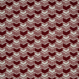 Aravali Cotton Linen Fabric in Burgundy by haveli design