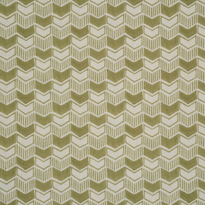 Aravali Cotton Linen Fabric in celadon haveli design
