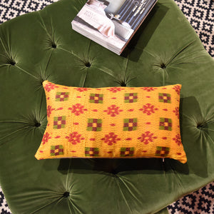 Ochre Silk Cushion