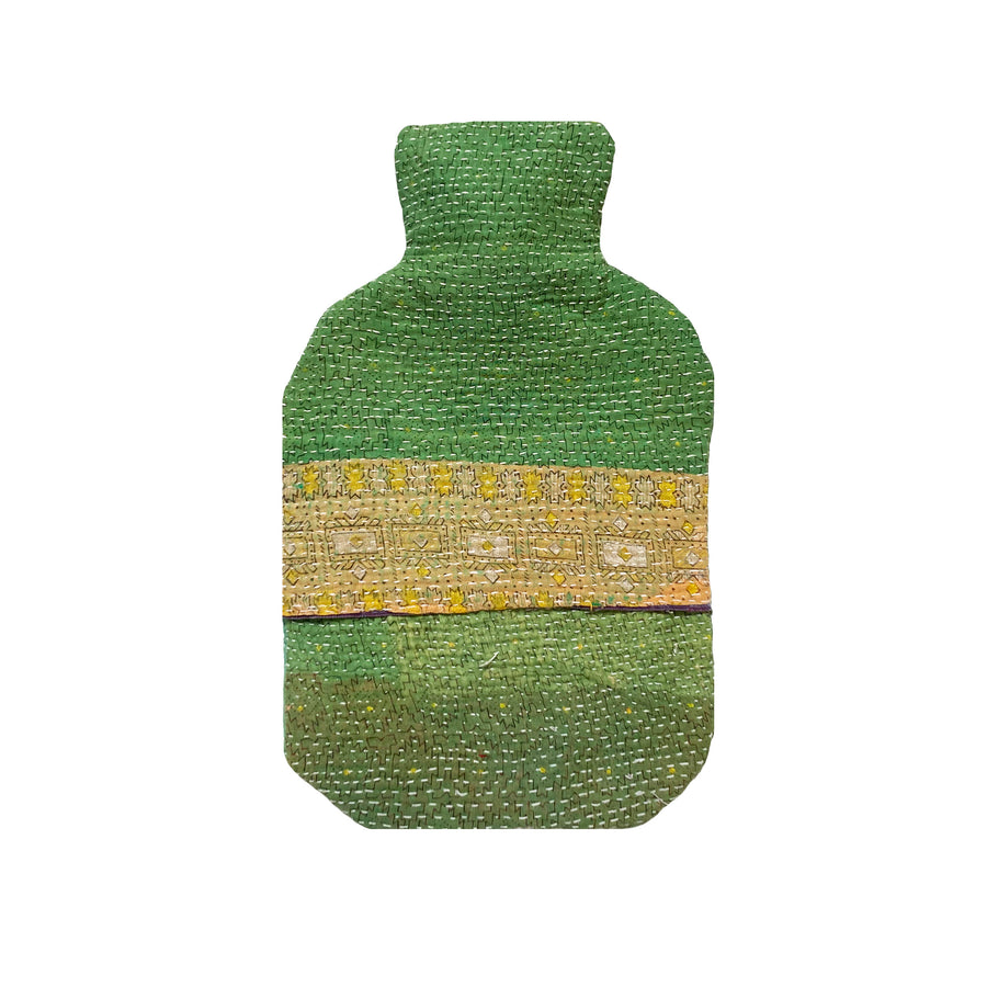 Green Hot Water Bottle