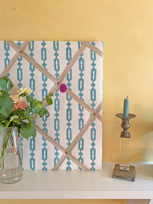 Minikari Stripe in Turquoise Noticeboard