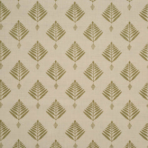 palm linen fabric in celadon by haveli design