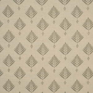 Palm Linen Fabric in Pale Grey