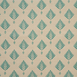 palm linen in turquoise by haveli design