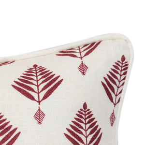 Palm in Burgundy with Piping