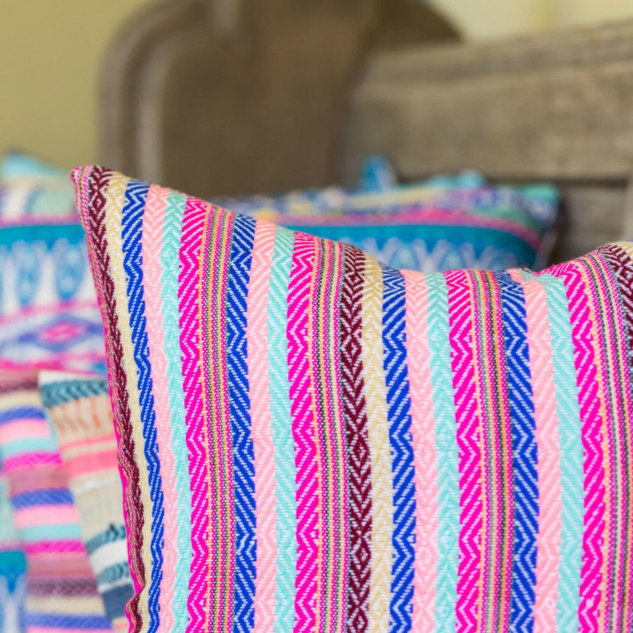 Pink Stripe Cushion
