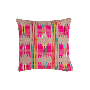 abelia pink woven cushion haveli design