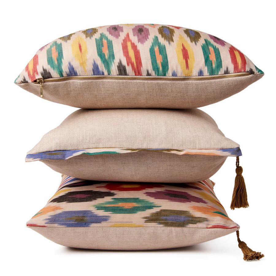Marni Trim Ikat Cushion