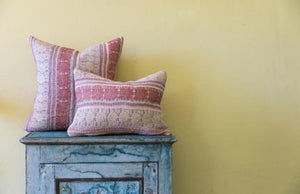 Coral Brocade Cushion