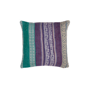 violet drocade kantha cushion haveli design