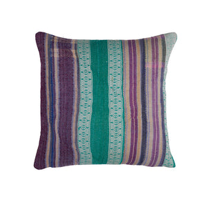 Violet Brocade Kantha Cushion haveli design