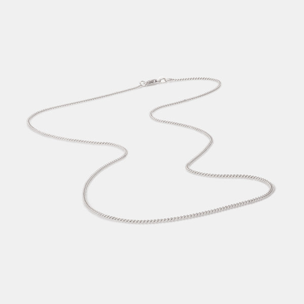 Curb White Gold Chain